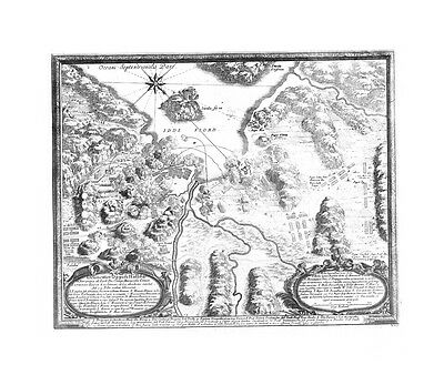 Antique map, Delineatio oppidi Halldae …