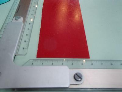 "1/16"" x 2-3/4"" to 3"" X17""  URETHANE / POLYURETHANE 95 A RED SHEET  P/N11136"