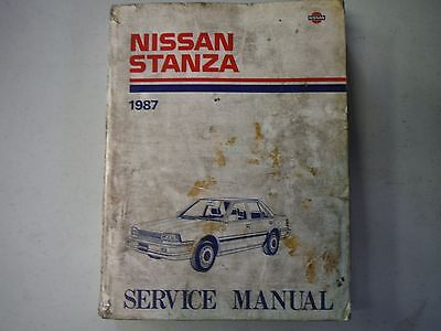 1987 NISSAN STANZA Service Repair Workshop Shop Manual Factory OEM