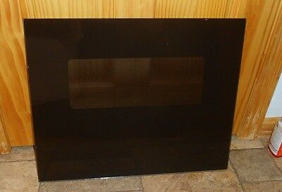 Brown front door glass from an  AMANA AO24SC P85567-5S oven part# R0199091