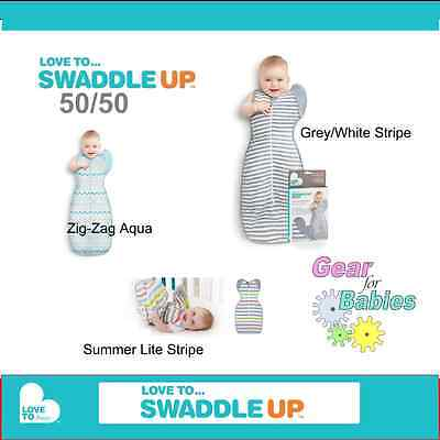LOVE TO SWADDLE UP 50/50 - WRAP ME UP - (Medium, Large & X-Large) LOVE TO DREAM