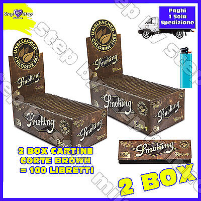 6000 Cartine SMOKING CORTE BROWN naturali Senza Cloro Non Sbiancate 2 Box