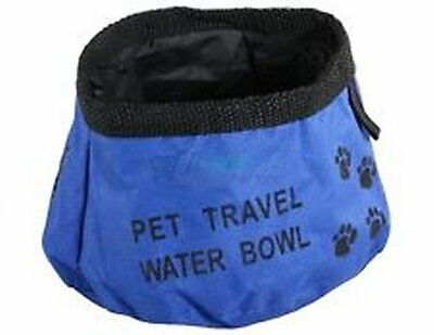 Pet Bowl Fabric Travel Dog Cats Bowls Reusable Dogs Camping Water Food New