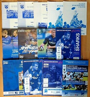 Sale Rugby Programmes 1954 - 2005