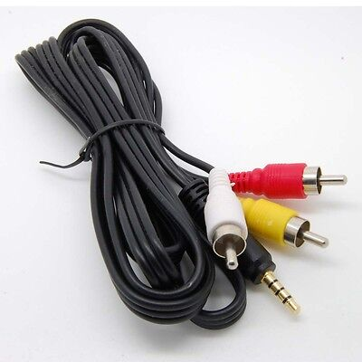3.5mm to 3 RCA AV A/V TV Video Cable Cord Lead For JVC Video Camera Camcorder_sx