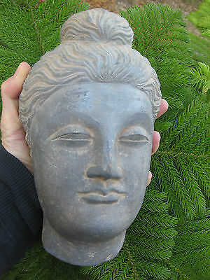 Astonishing Stone Large, 22cm, 4.5 kg, Buddha Head, Gandhara Kingdom, 100-300 AD
