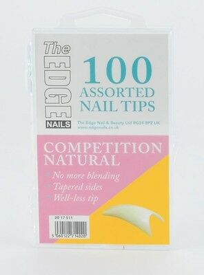 100 THE EDGE COMPETITION NATURAL WELL-LESS NAIL TIPS  well less acrylic gel