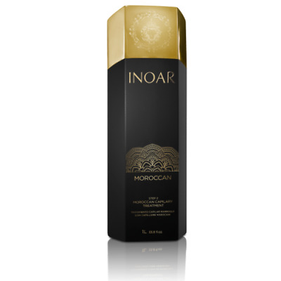 Inoar Moroccan Brazilian Keratin Treatment Blow Dry Hair Straightening 1 Litre .