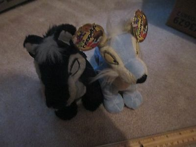 Neopets Shadow Blue Lupe Plush Lot of Two 2006