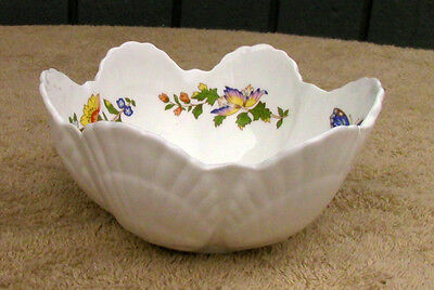Aynsley Shell Scallop Candy Nut Dish Cottage Garden—UNIQUE, EXCELLENT CONDITION!