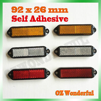 6pc Reflector Red Amber White Marker Truck Car Trailer Self Adhesive Reflector