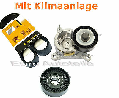 V-RIBBED BELTS+Tensioner + IDLER PULLEY Citroen Peugeot 1.8 2.0 16V 2.2