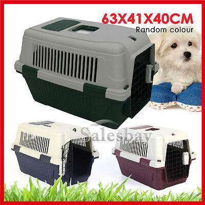 Large Portable Pet Dog Cat Carrier Travel Bag Cage House Safety Lockable Gate