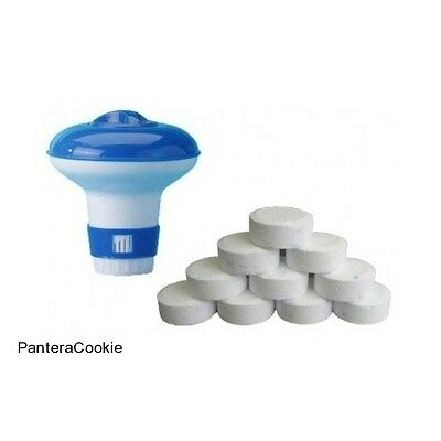 Pool Chlorine Dispenser Swimming Paddling Spa Hot Tub Floating 10 Clean Tablets