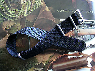 22mm Black Woven Braided SS NATO G10 ® Nylon diver watchband RAF strap IW SUISSE