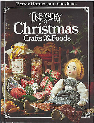 Better Homes & Gardens Treasury of Christmas Crafts and Foods HB 1980 VGC