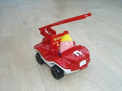 Vintage 1970's WEEBLES Fire Engine with driver