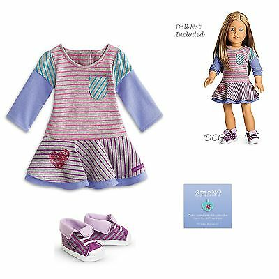 """American Girl MYAG SCHOOL STRIPES DRESS for 18"""" Dolls Clothes NEW Outfit"""