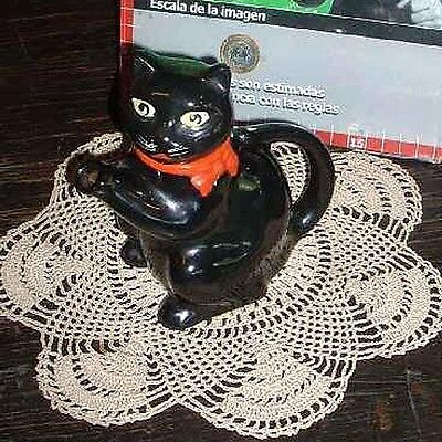 Rare Pussyfoot  Black Cat Teapot  Wood & Sons England - circa 1940
