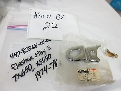 Yamaha nos motorcycle flasher stay 1974 tx650 1975 & 1977 xs650