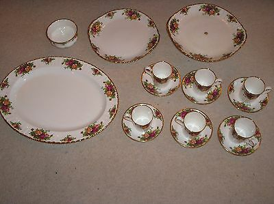royal albert country roses coffee cups and plate