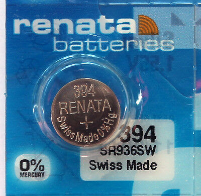 1PC Renata 394 SR936SW Silver Oxide Coin Cell Battery 1.55V - Swiss Made