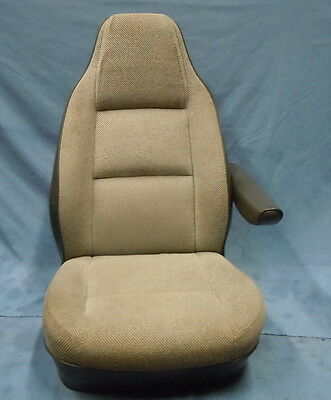 74-93 Dodge Truck Club Cab Ramcharger Van Front High Back Gray Cloth Bucket Seat