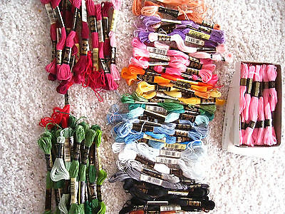 Lot of 80+ Vtg DMC 25 Mouline Special 8m Coton A Broder Embroidery Thread Mixed