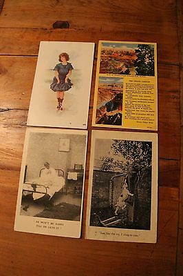 Four rare vintage early 1900's post cards