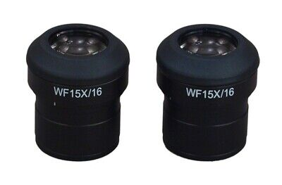 A Pair of WF15X/16 WideField Eyepieces 30mm for Stereo Microscopes