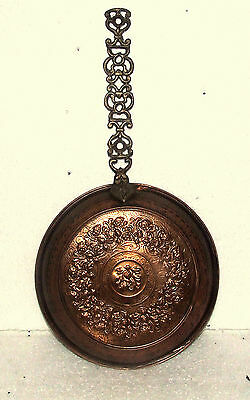 MIDDLE EASTERN ANTIQUE COPPER BRASS PAN ISLAMIC ART&CRAFT HANGING DECORATION