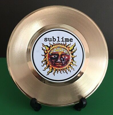 Sublime - Ska Punk 24k Gold Record Display & Stand - USA Ships Free Priority