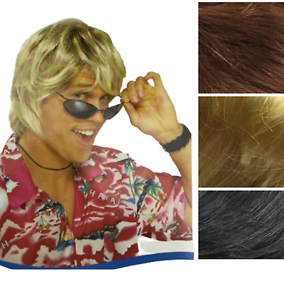 MENS COSTUME WIG Fancy Dress Halloween Party Accessory 70s 80s Hair Fun Funny