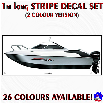 1m Stripe #6 2 colour DIY decal kit.Car,caravan,campervan,RV,boat,marine graphic