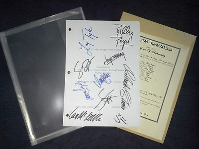 Authentic Genuine LOTR Two Towers Movie script with COA signed by 10!!!
