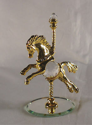 Carousel Horse Handcrafted Using Swarovski Crystal