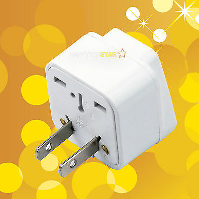 Universal UK/RU/EU/AU Socket to United States Canada Japan 2 Pin AC Plug Adapter