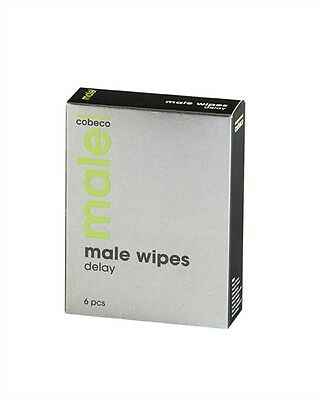Cobeco MALE Ejaculation Delay Wipes; Handy Pocket Sized Climax Control 6 Sachets