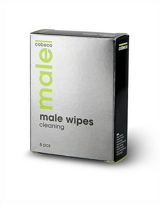 Cobeco MALE Intimate Cleaning Wipes Out & About Groin & Genital Fresheners x 6