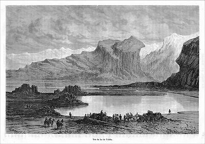 See Lake Vilafro Arequipa Peru Pajonal Piruw Perou wood engraving Holzstich 1875