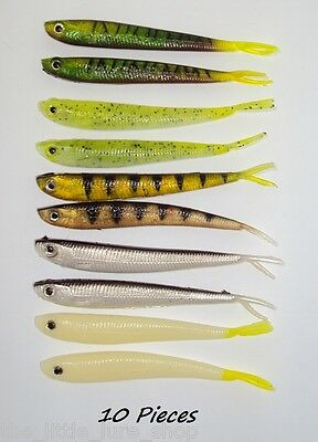 Soft Plastic Jerk Shad Saltwater SwimBait Fishing Lure 11cm Lumo Glow Bass Trout