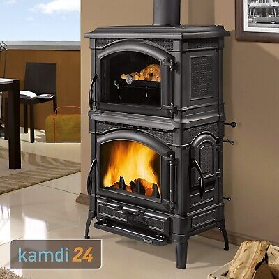 11 5 kw kaminofen isotta forno la nordica backfach holzofen ofen kamin gussofen eur. Black Bedroom Furniture Sets. Home Design Ideas