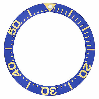 Bezel Insert For Invicta  8928 Pro Diver Auto Blue Gold Fonts Top Quality