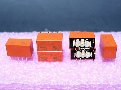 5 Pcs Nec Ec2-12Nj Pcb Mount 12Vdc Non-Latch Low Signal Relay Made In Japan