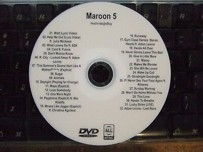 Maroon 5 The Complete Music Video Dvd Collection What Lovers Do Dont Wanna Know
