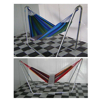 STON Convenient Simple Practical Color Bar Canvas Hammock Durable NO METAL STAND