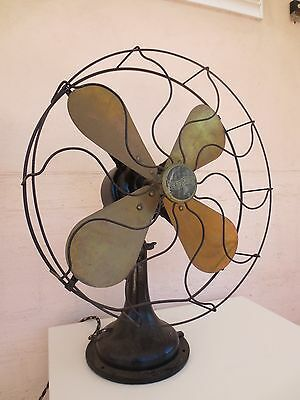 Westinghouse brass iron antique electric fan vintage working worldwide post