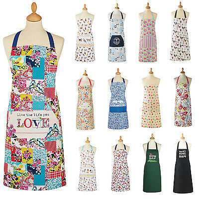 Aprons For Chefs Ladies Kitchen Cooking Work Pocket Mens Womens Funny Novelty