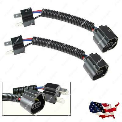 H4 9003 To H13 9008 Pigtail Headlight Conversion Harness Sockets: Ford Dodge GMC
