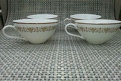 4 Sheffield Imperial Gold Pattern 504 ~ Flat coffee Cup - gold lace and trim